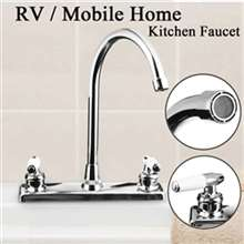 RV Travel Dual Handle Faucet Thermostatic stainless steel
