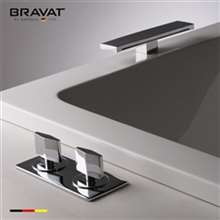 Bravat Beautiful Chrome Deck Mount Bathtub Faucet