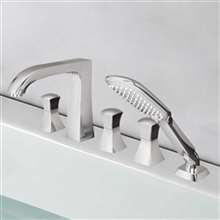 Bravat Classic Look Chrome Bathtub Faucet with Hand Shower