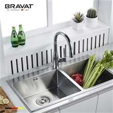 Bravat Stylish Pull-Out Faucet Chrome Deck Kitchen Sink Faucet