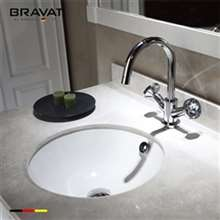 Bravat Beautiful White Under-Mount Ceramic Sink