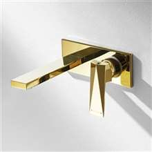 Bravat Beautiful Golden Wall Installation Single Handle Faucet