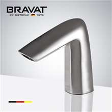 Bravat Brushed Nickel Commercial Deck Mount Automatic Sensor Faucet