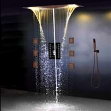 Fontana Showers 3-Way LED Luxury Style Shower Head with Hand-Held Shower
