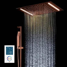 Fontana Showers Smart & Intelligent LED Touch Control Rainfall Shower Head With Hand Shower