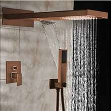 Fontana Shower Light Oil-Rubbed Bronze Head Shower with Hand Shower