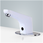Fontana Sierra Commercial High Quality Atomatic  Touchless Sensor White Sink Faucet