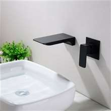 Fontana Napoli Luxury Wall Mount Dark Oil Rubbed Bronze Waterfall Sink Faucet