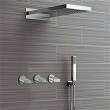 Fontana Reno Wall Mounted Nickel Rainfall Mixer Shower Set