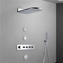 Fontana Luna Thermostatic System with Body Jet Shower Set