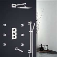 Fontana Milan Hot & Cold Bathroom Rainfall Thermostatic Shower Set