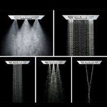 Fontana Platinum Thermostatic Ceiling Mount Bathroom Rain Shower Set
