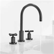 Fontana Verona Bathtub Hot Cold Mixer Dark Oil Rubbed Bronze 3pcs Sink Faucet