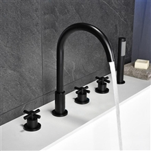 Fontana Verona Bathtub hot and cold mixer Dark Oil Rubbed Bronze 5pcs Sink faucet