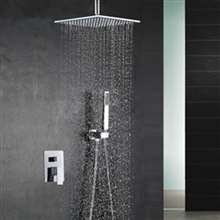 Fontana Chandler Ceiling Mount Rainfall Shower Head with Handheld Spray Set