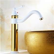 Fontana Milan 360 Rotated Copper Gold with White Sink Faucet
