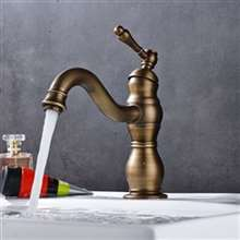Fontana Dijon Single Hole Antique Brass Bathroom Sink Faucet