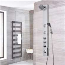 Fontana Rio Aluminum Rain Waterfall Shower Panel with Jets and Hand Shower