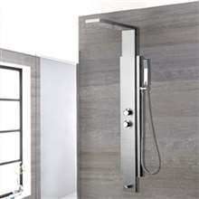 Fontana Verona Silver Thermostatic Shower Panel