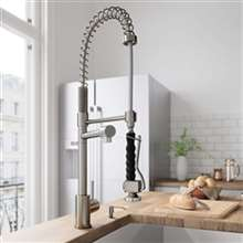 Fontana Verona Single Handle Brushed Nickel kitchen Sink Faucet