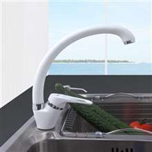 Fontana Milan Single Handle White Cold and Hot Kitchen Faucet