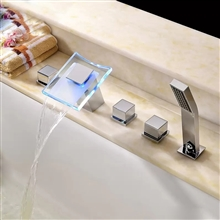 Sierra LED Colors Waterfall Widespread Hand Shower Faucet