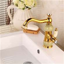 Fontana Napoli Luxury Copper Hot and Cold Mixer Gold Bathtub Faucet