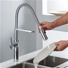 Fontana Sierra Polished Chrome Handheld Sprayer Kitchen Sink Faucet