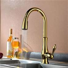 Fontana Sierra Gold Solid Handheld Sprayer Mixer Kitchen Sink Faucet