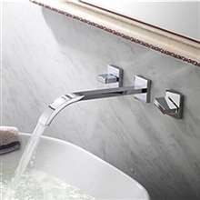 Fontana Wall Mounted Chrome Bathroom Sink Faucet