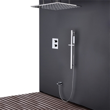 Fontana Sierra Brushed Nickel 20 Inch Rainfall Shower Set