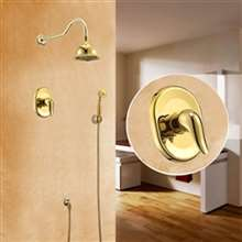 Denver Wall Mounted Gold Finish Waterfall Shower and Bathtub Faucet