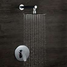 Verona Chrome Finish In-Wall Round Embedded Box Shower Set - F Style
