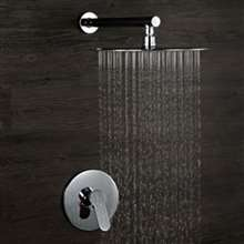 Verona Chrome Finish In-Wall Round Embedded Box Shower Set - G Style