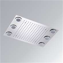 Fontana Atlanta Recessed Ceiling Mount Rainfall Remote Controlled LED Ceiling Showerhead