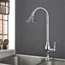 Fontana Milan 100% Solid Brass Chrome Finish Kitchen Sink Faucet