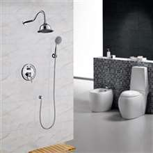 "Fontana Napoli 8"" Chrome Finish Rain Bath Shower Set"