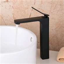 "Denver 12"" Contemporary Dark Oil Rubbed Bronze Bathroom Sink Faucet"