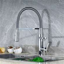 Lima Polished Chrome Pull Down Kitchen Sink Faucet
