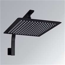 Fontana Benton 8-Inch Matte Black Rainfall Square Shape Shower Head