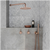 Rose Gold Fontana Conway Solid Brass Wall Mount Round Head Bathroom Shower Set