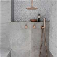Fontana Conway Solid Brass Ceiling Mounted Bathroom Shower Set