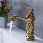Single Handle Classic Brass Diamond Bathroom Sink Faucet