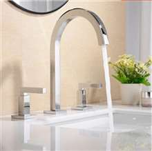 Three Hole Widespread Bathroom Sink Faucet