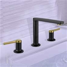 Napoli Black Gold Double Handle Sink Faucet
