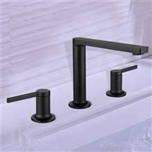 Napoli Dark Oil Rubbed Bronze Double Handle Sink Faucet