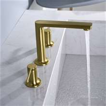 Napoli Brushed Gold Double Handle Sink Faucet
