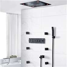 Texas LED Remote Control Brass Shower Set