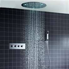 Fontana Milan 20 Inches Round Wall Thermostatic Shower