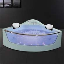 Chicago Modern Acrylic Massage Corner Bathtub